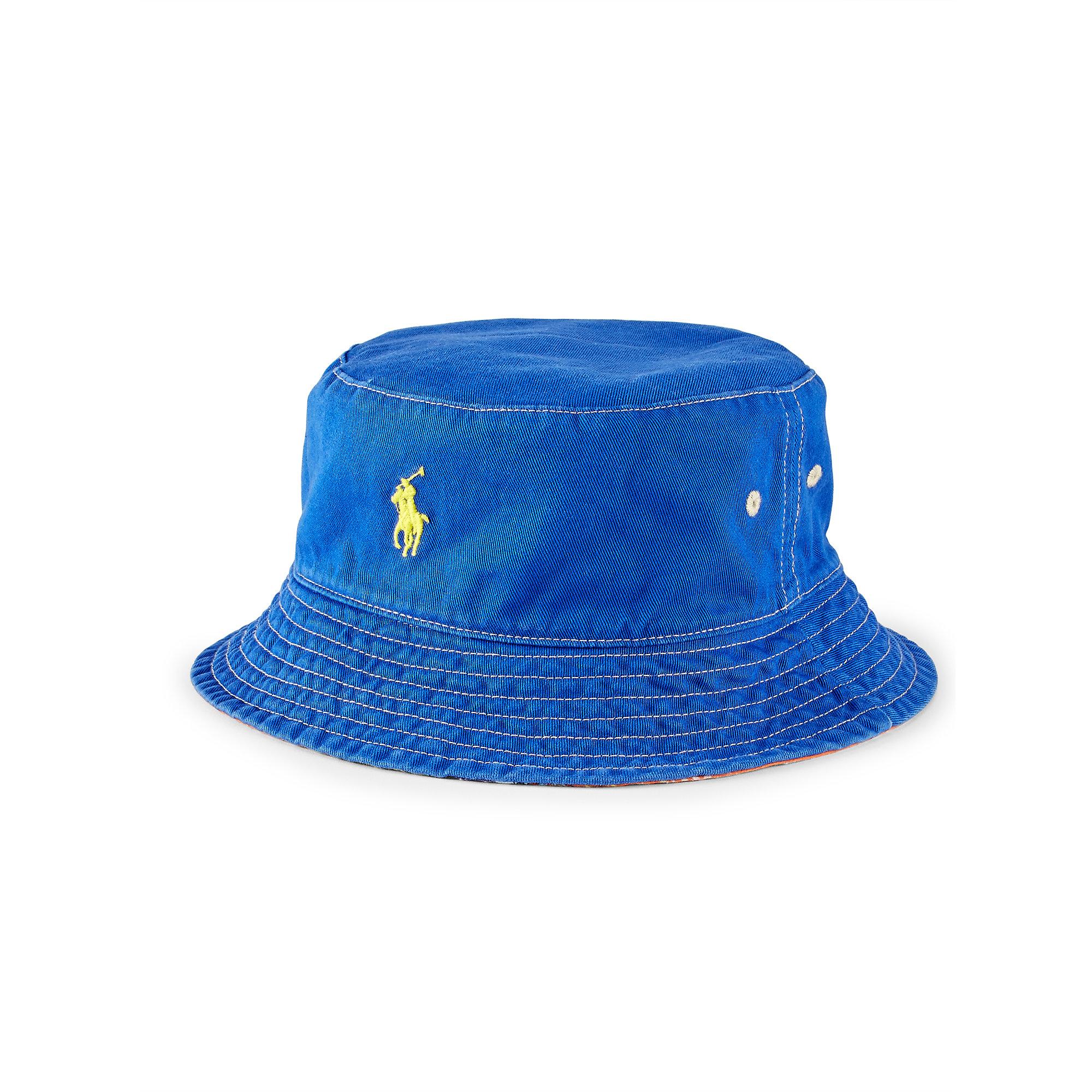 ffcd03aeb7832 Polo Ralph Lauren Reversible Twill Bucket Hat in Blue - Lyst