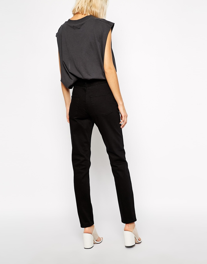 Cheap monday Mom Jeans in Black | Lyst