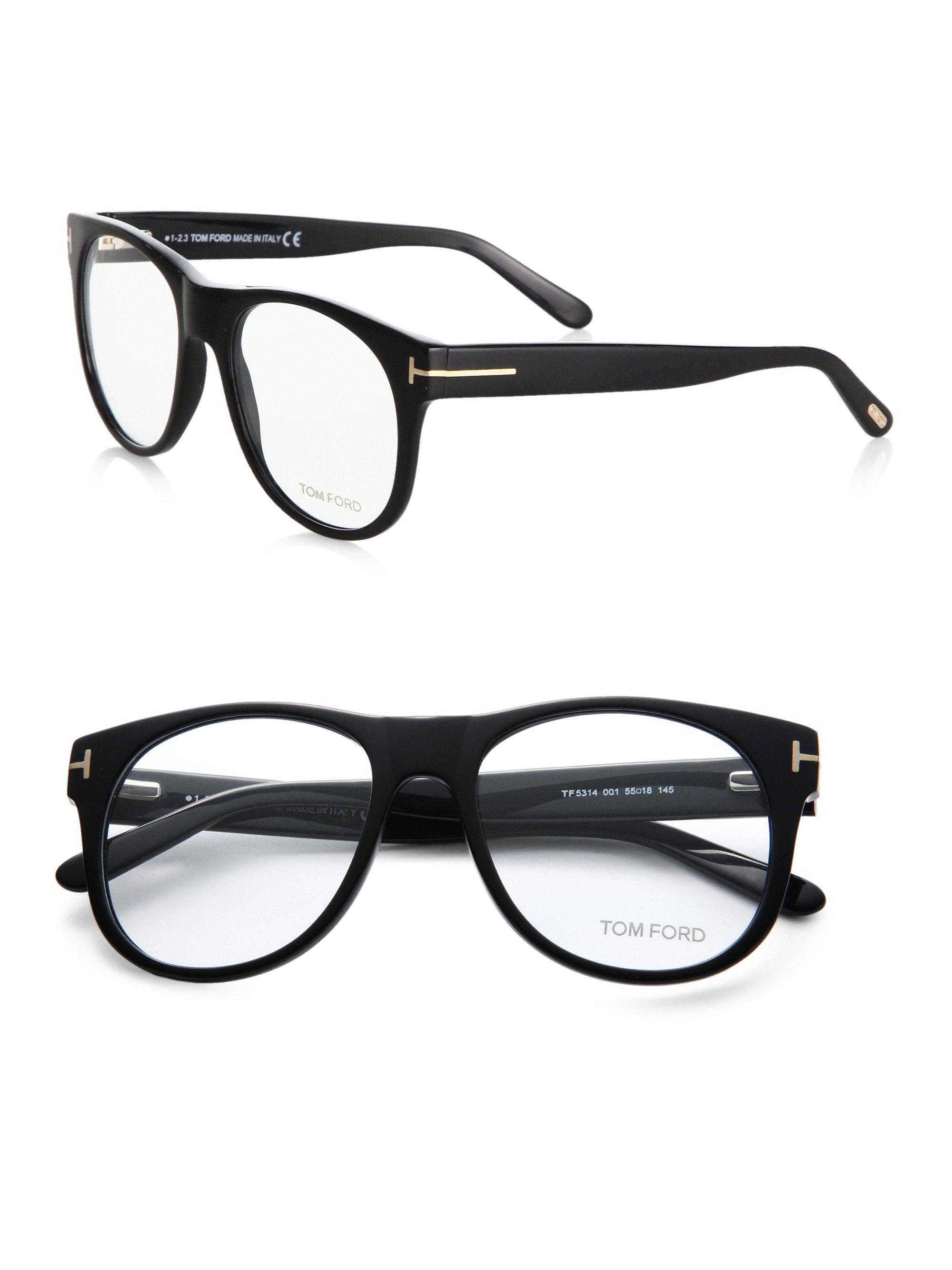 498228eff81 Lyst - Tom Ford Oversized Optical Glasses in Black