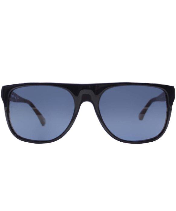 817e9980b4bf Lyst - Emporio Armani Ea 4014 510380 Blue Red Rectangle Plastic Sunglasses  in Blue