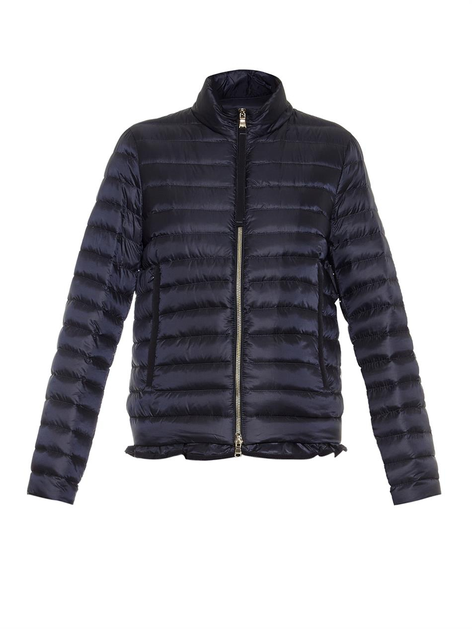 Moncler Blein Lightweight Quilted Down Jacket in Blue | Lyst