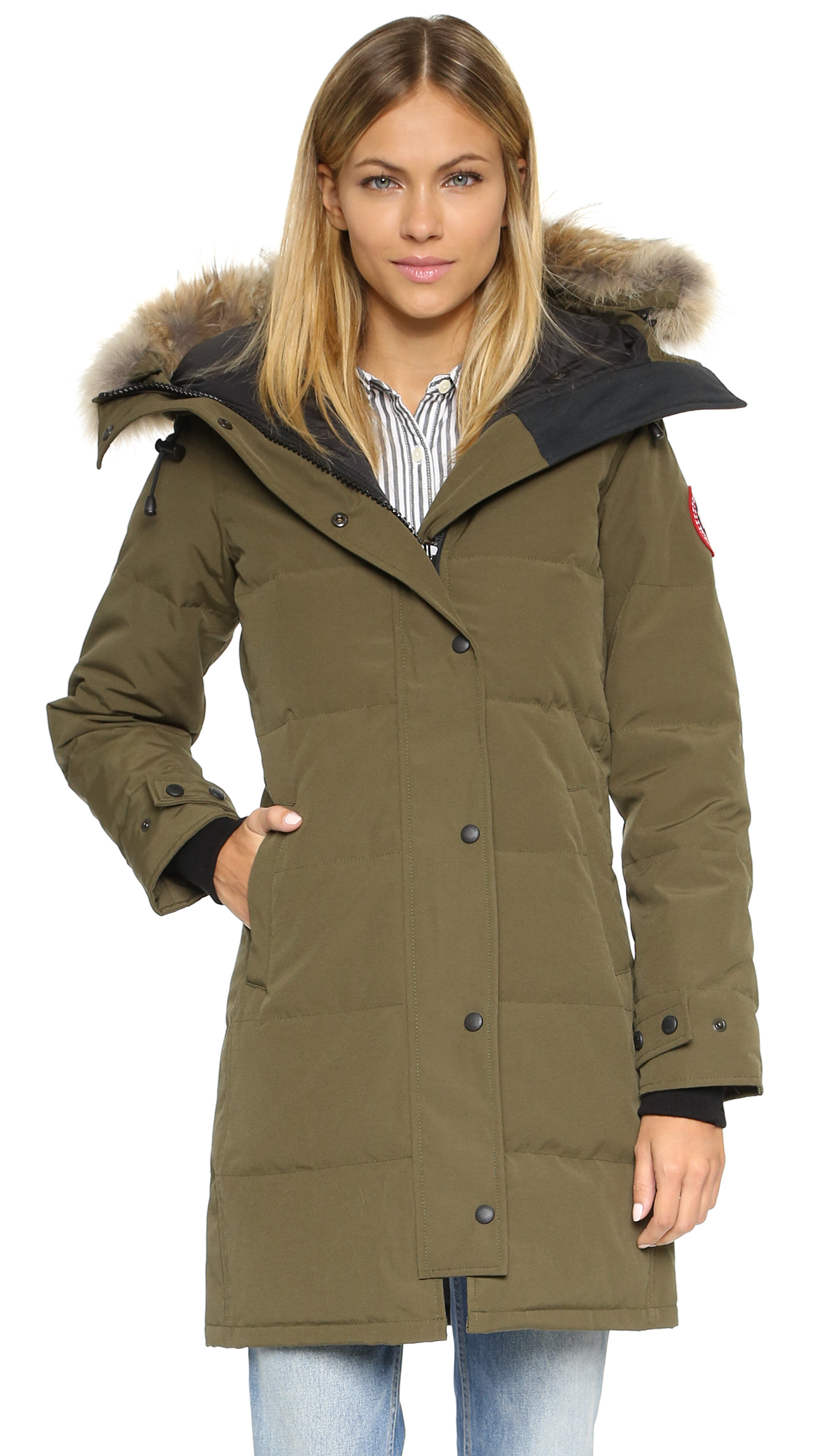 Canada Goose victoria parka sale discounts - Canada goose Shelburne Parka in Green (Military Green) | Lyst