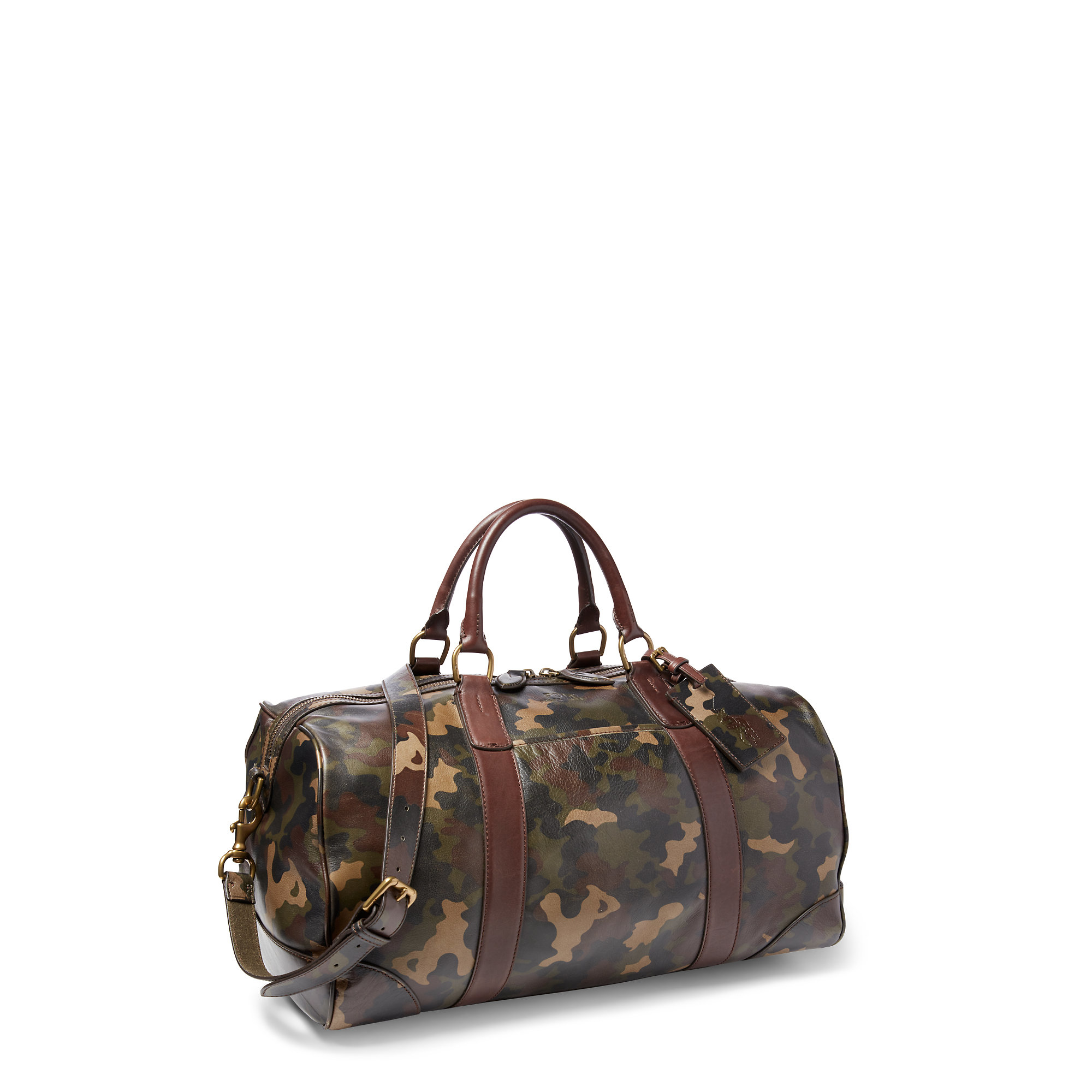 2d9e8cd7b0 ... germany lyst polo ralph lauren camouflage leather duffel bag in gray  for men c8e8a b1047