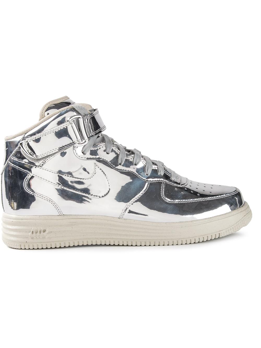 Nike Air Force 1 Midtop Sneakers In Metallic For Men Lyst