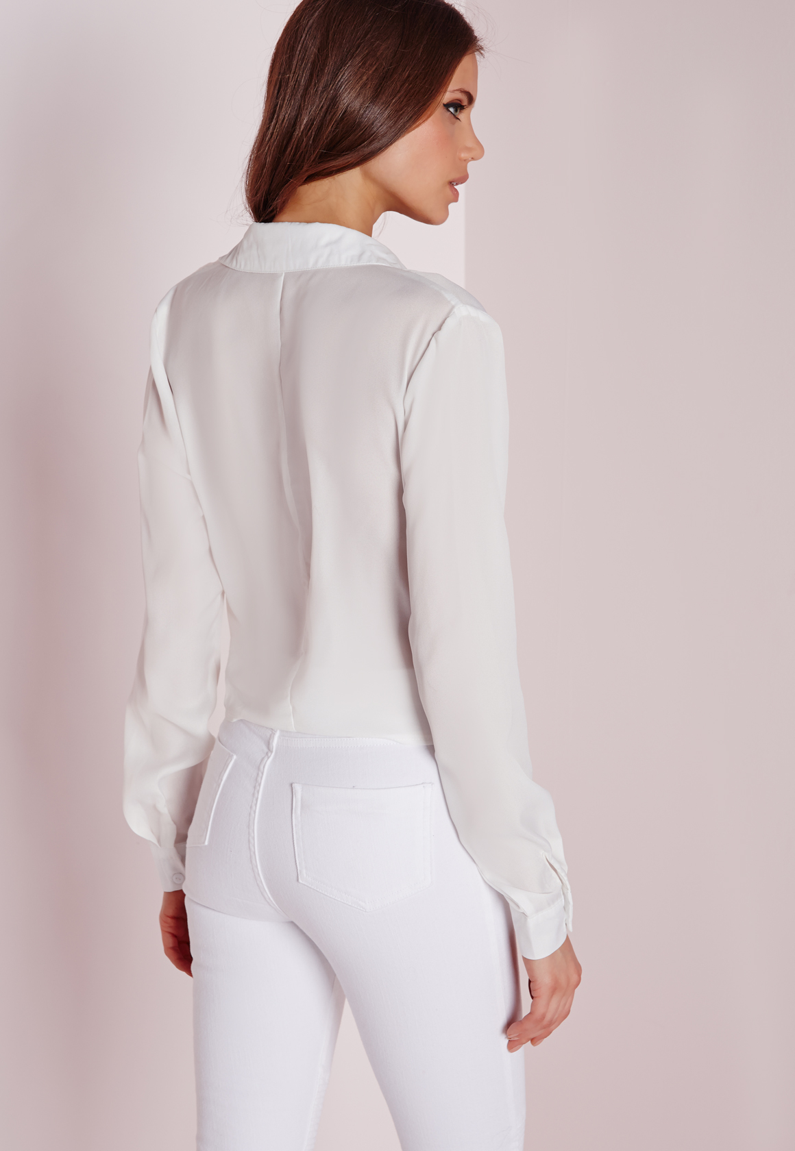 White Side Tie Blouse 21