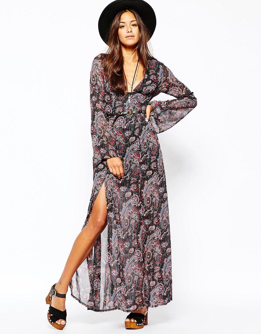 Paisley Print Maxi Dresses