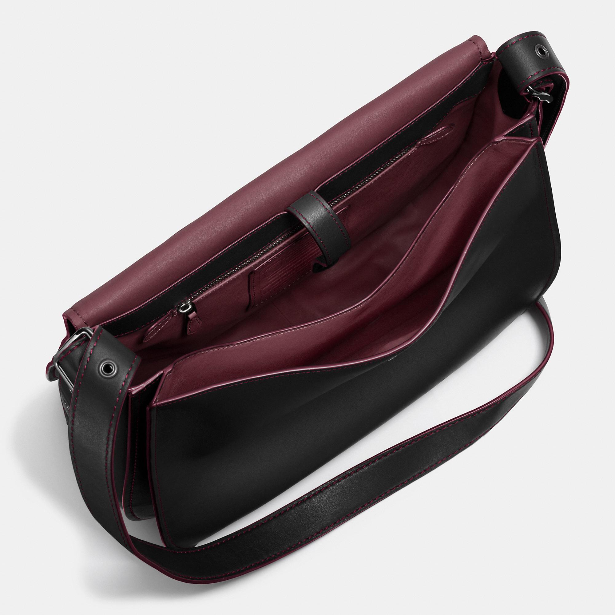 ec3da3f9b79 ... Lyst - Coach Saddle Bag 35 In Glovetanned Leather in Black official  photos 7f8fc 4b5f8 ...