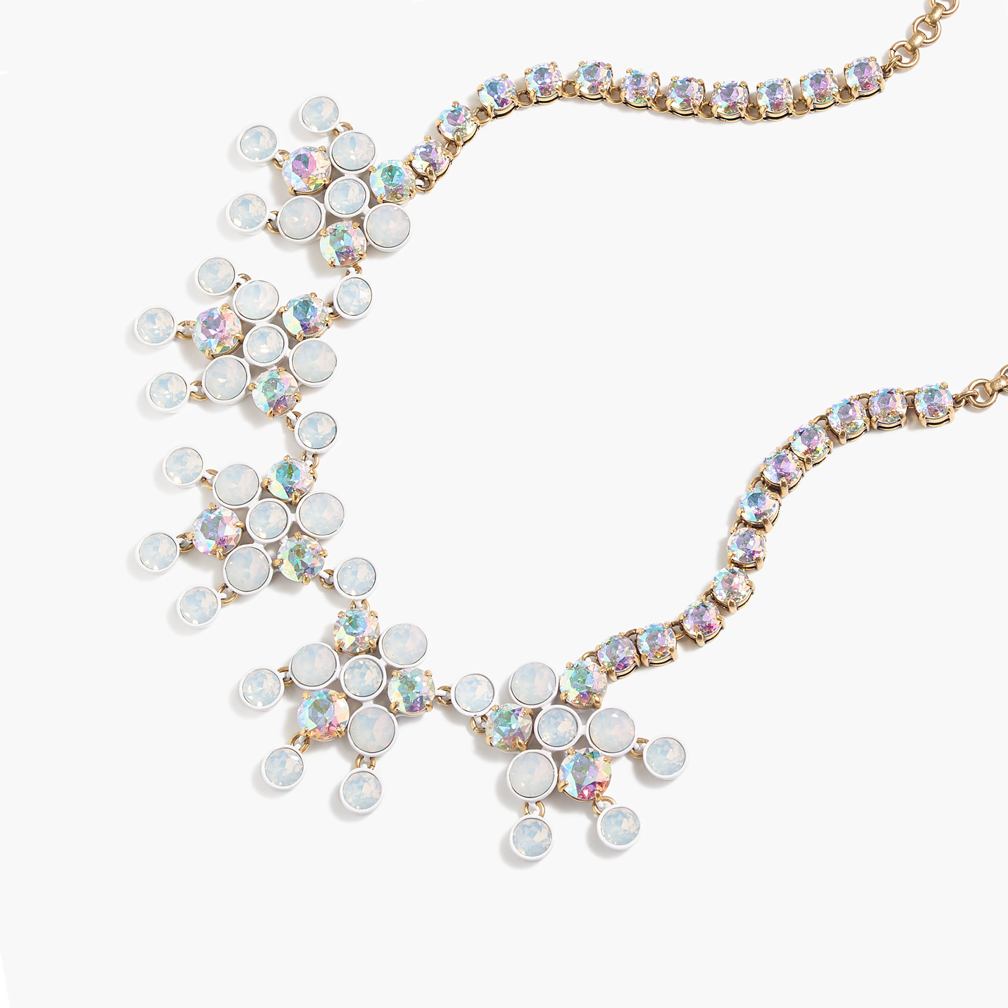 Crystal chandelier necklace in metallic lyst for J crew jewelry 2015