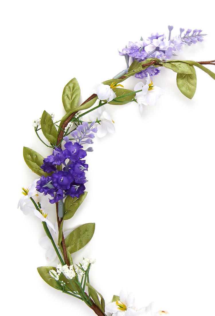Lyst forever 21 jasmine lavender flower crown in purple gallery izmirmasajfo