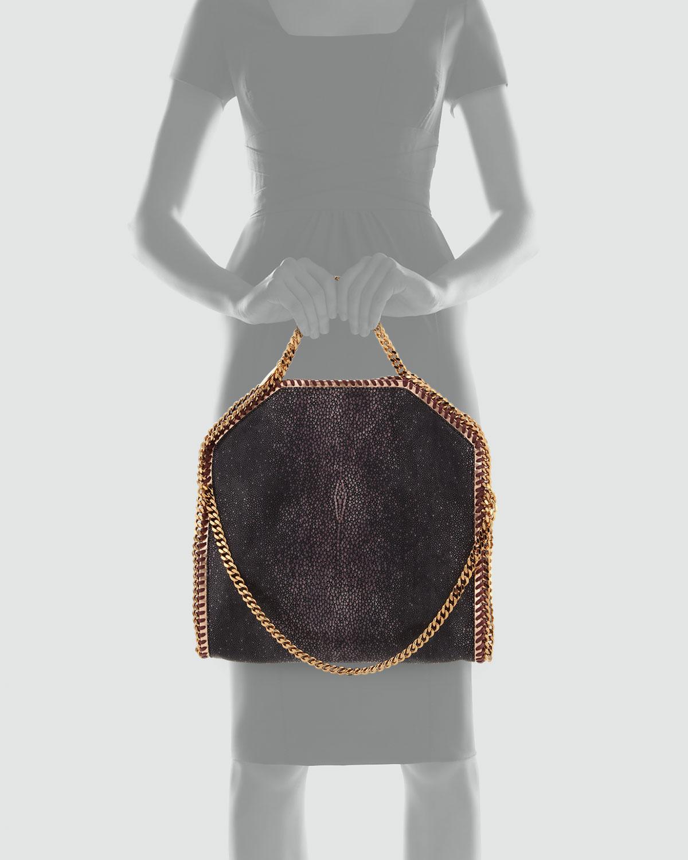 b363e4ebbbc91 Lyst - Stella McCartney Falabella Shaggy Deer Foldover Tote Bag ...
