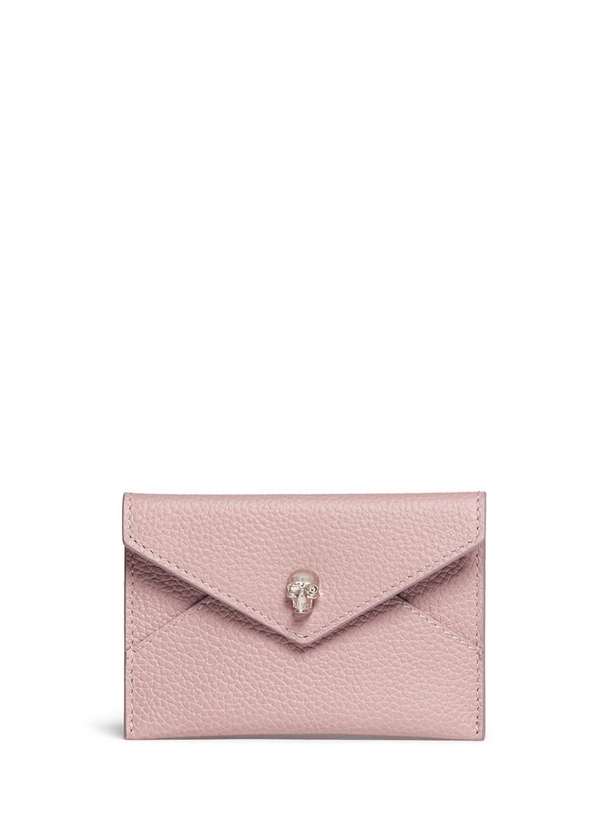 Pink Skull Envelope Card Holder Alexander McQueen Cheap New Arrival qDsnchqu