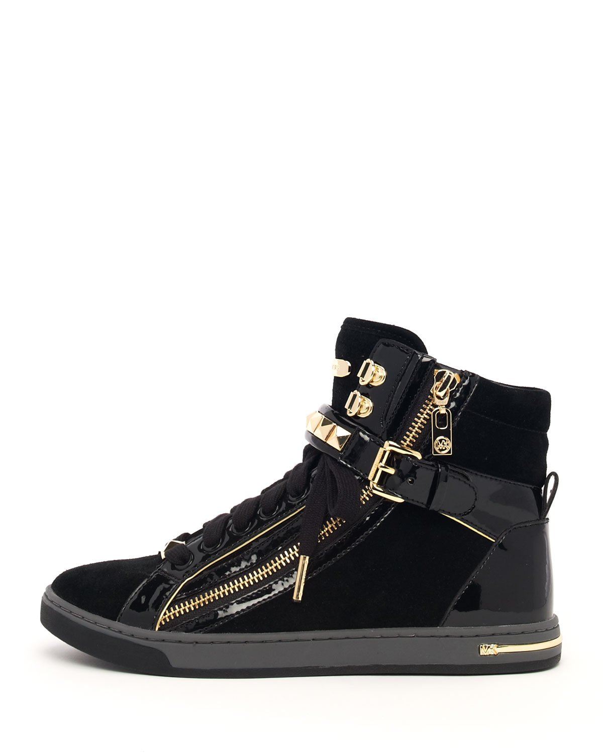 Lyst Michael Michael Kors Glam Studded High Top In Black