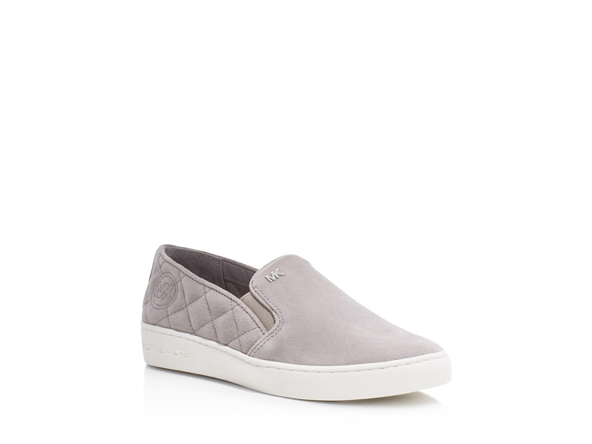 Michael Michael Kors Keaton Quilted Slip On Sneakers In