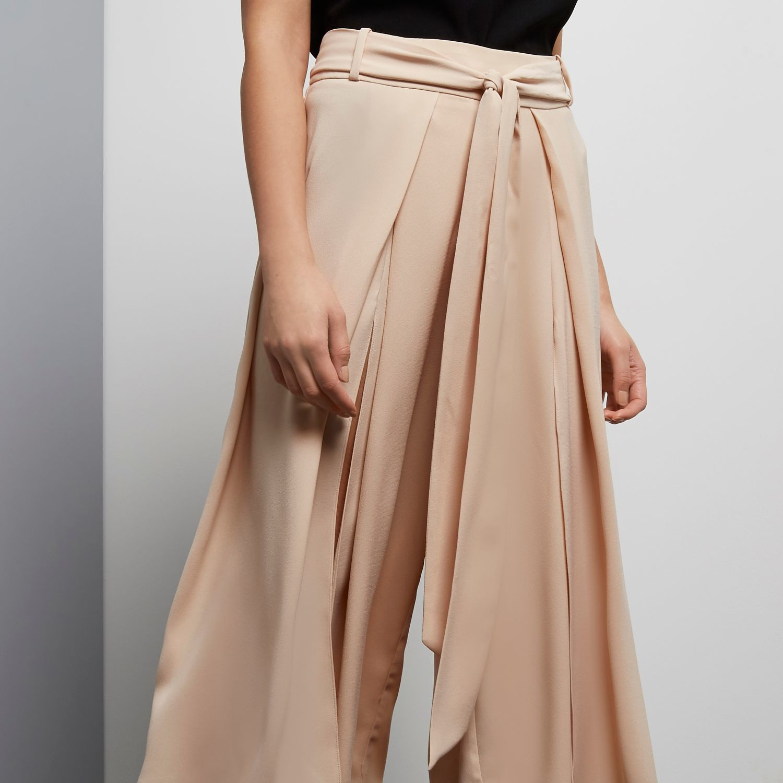 Womens Light Pink wide leg swirl print trousers River Island 1k4V1se