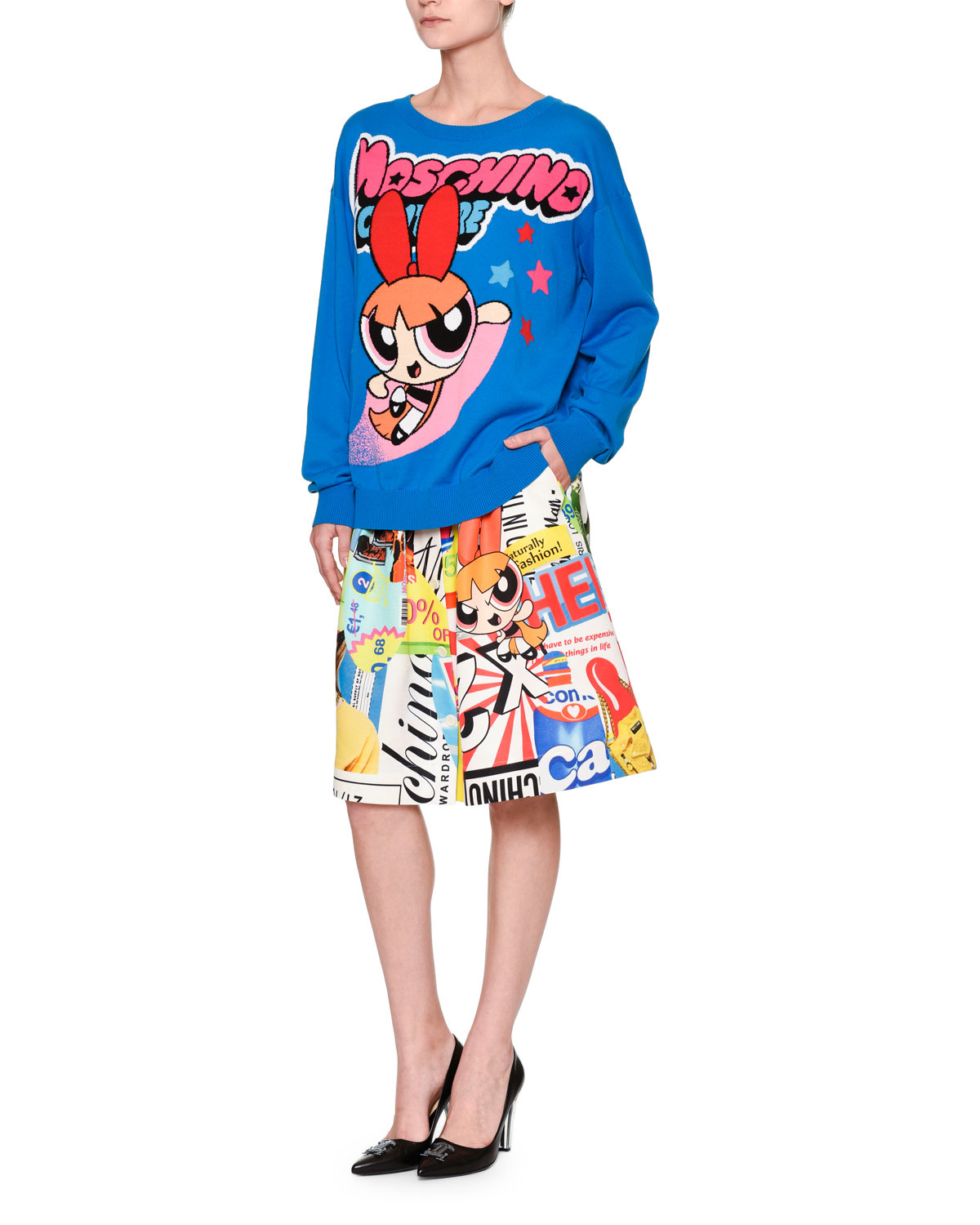 Moschino Powerpuff Girls Printed A-line Skirt | Lyst