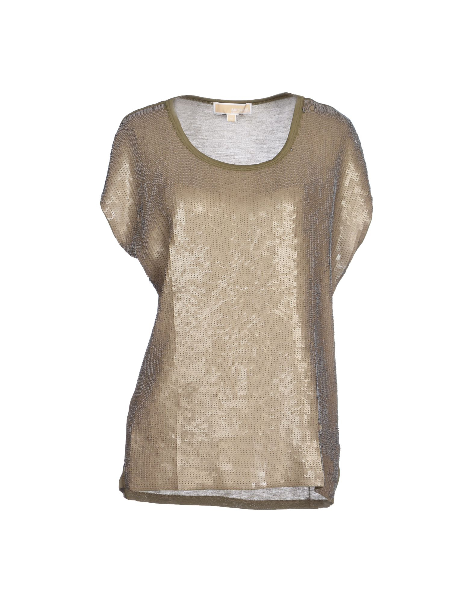 michael michael kors t shirt in metallic lyst. Black Bedroom Furniture Sets. Home Design Ideas