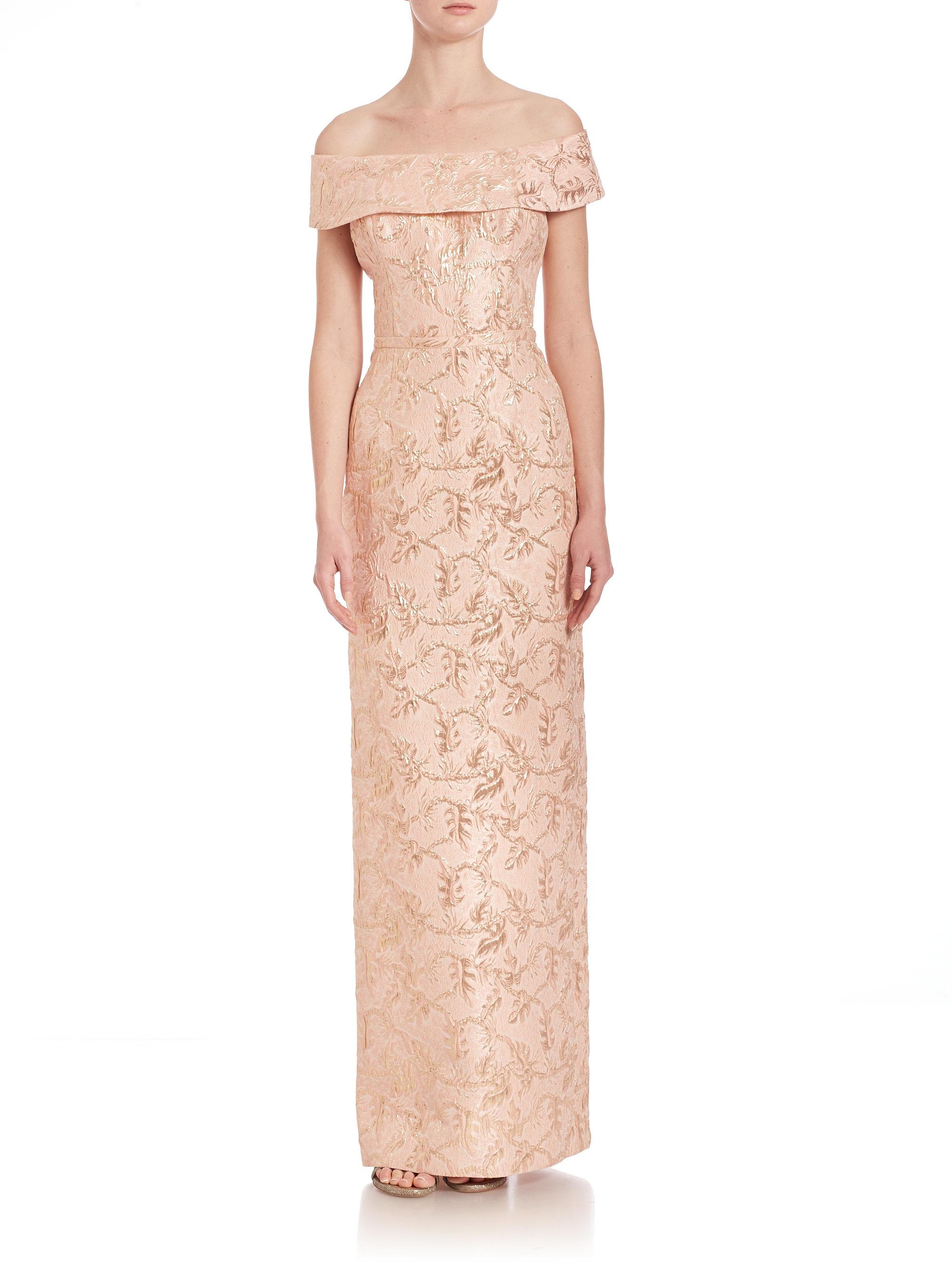 Teri Jon Shoulder Ruffle Dress – fashion dresses