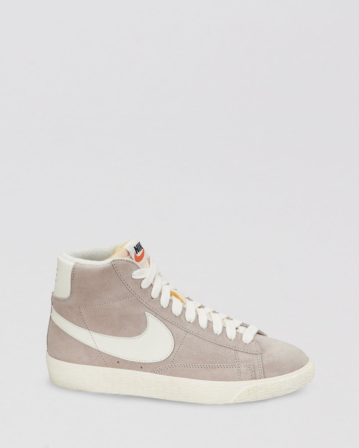 quality design 59a0c 41c74 Nike Lace Up High Top Sneakers - Women S Blazer Mid in Natural - Lyst
