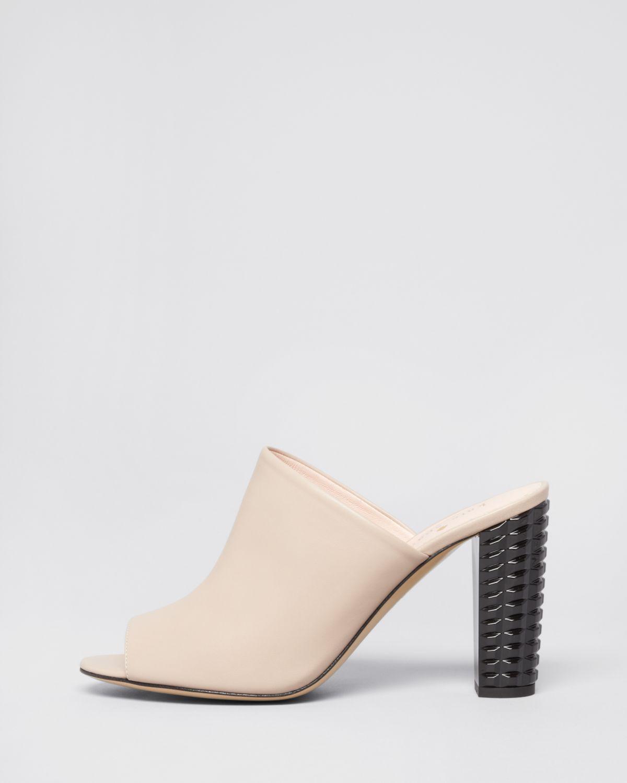 714049f208901 Kate Spade Open Toe Slide Mule Sandals - Bailee High Heel in Natural ...