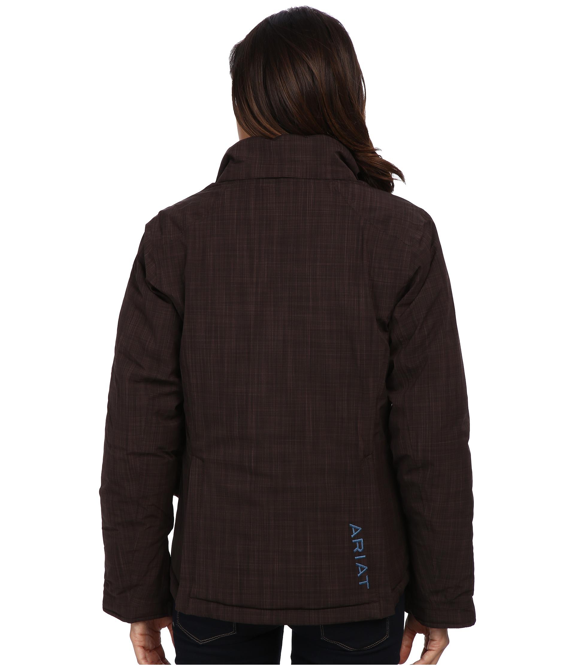 Ariat Highland Waterproof Jacket in Brown | Lyst