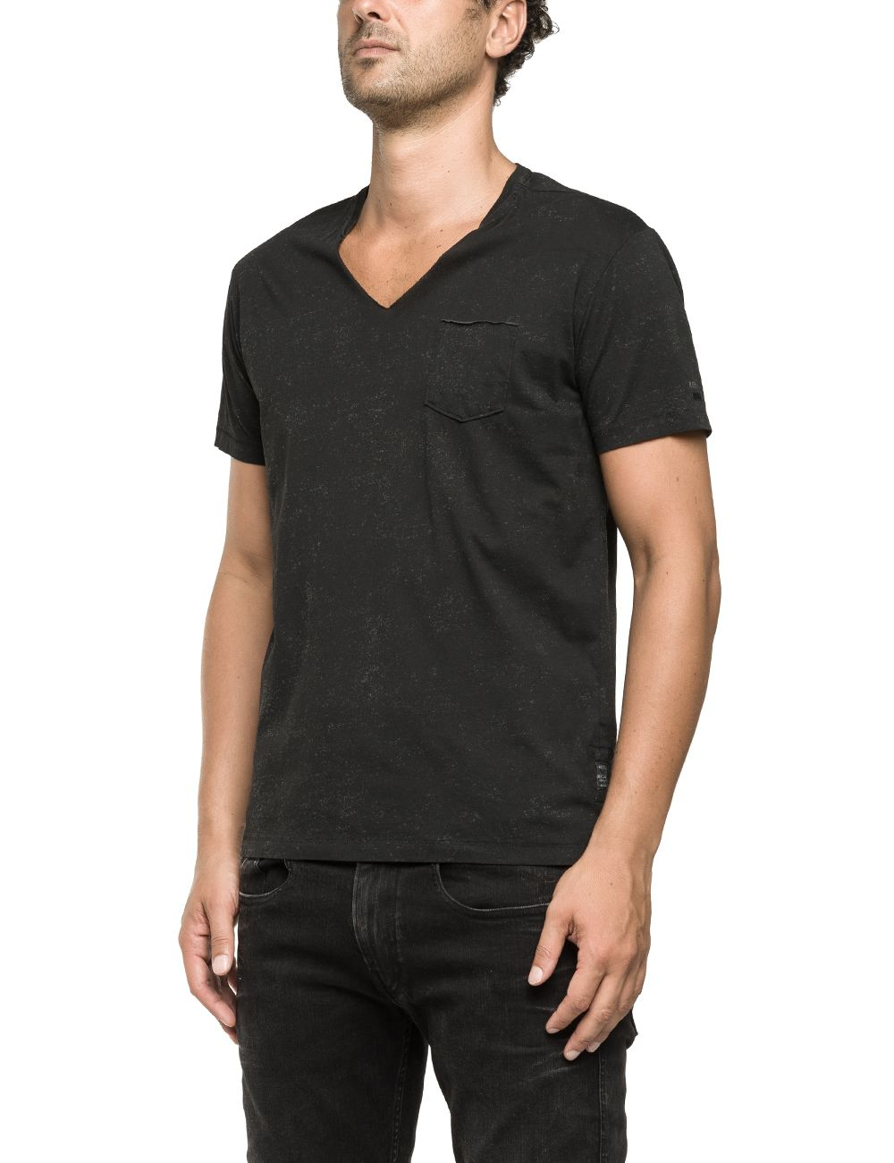 Black v neck t shirt for men the image V neck black t shirt