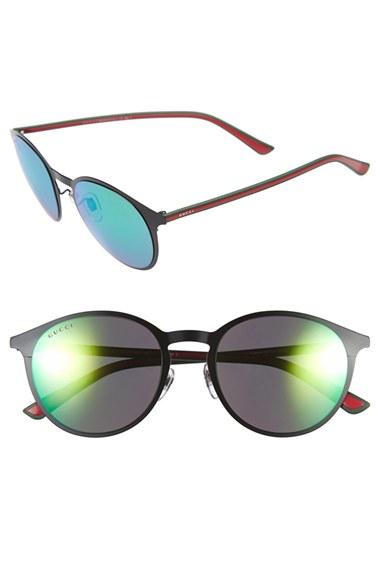 Gucci 52mm Retro Sunglasses in Blue for Men