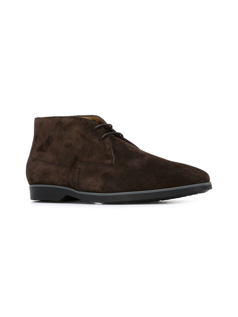 tod 39 s desert boots in brown for men lyst