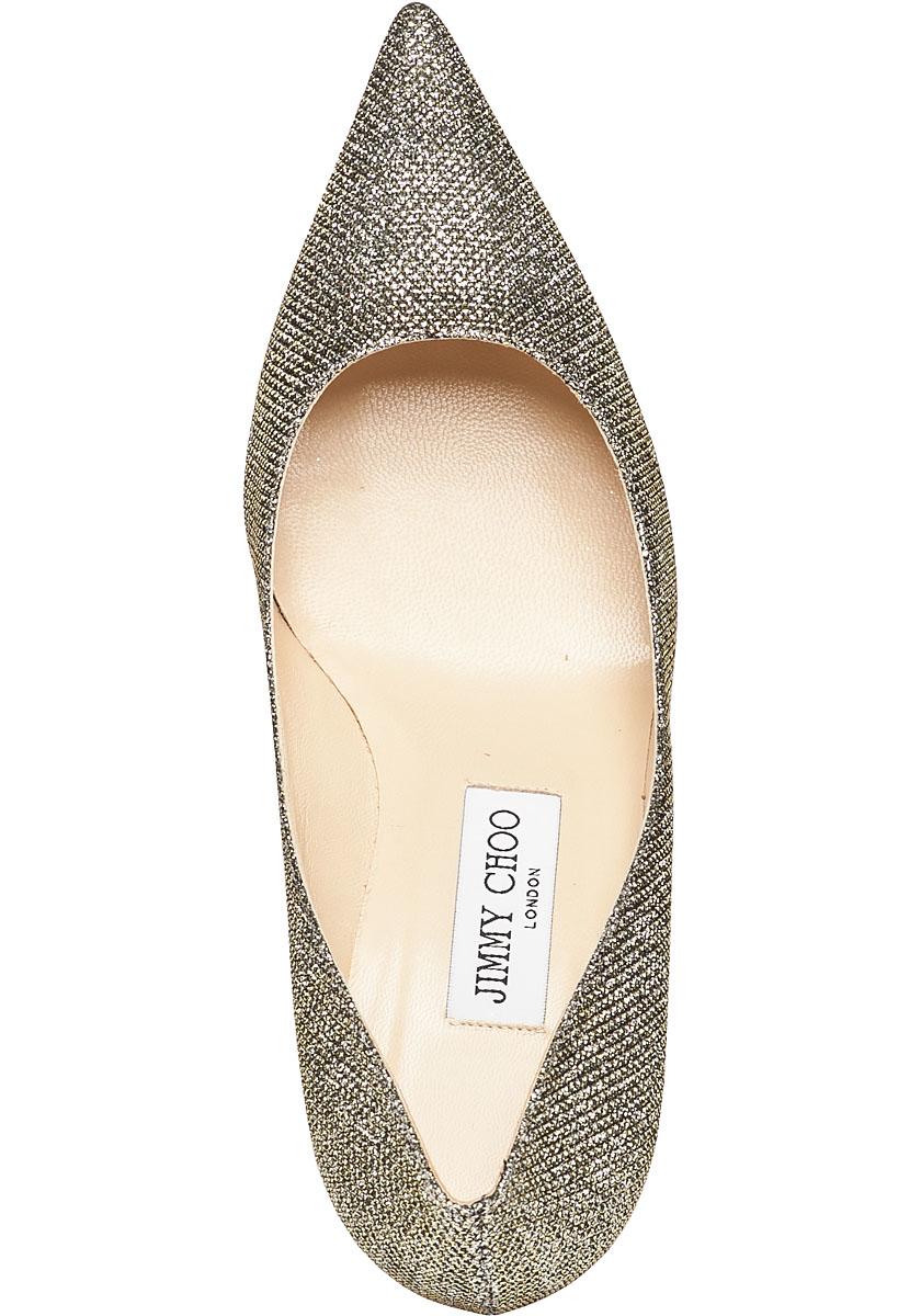 c51126924e5 Lyst - Jimmy Choo Aurora Bronze Glitter Kitten Heel in Metallic