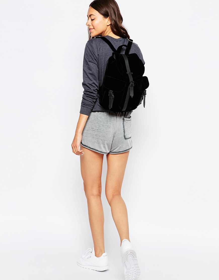 Herschel Supply Co. Dawson Micro Velvet Backpack With Leather Trim ... e900f15ebc450