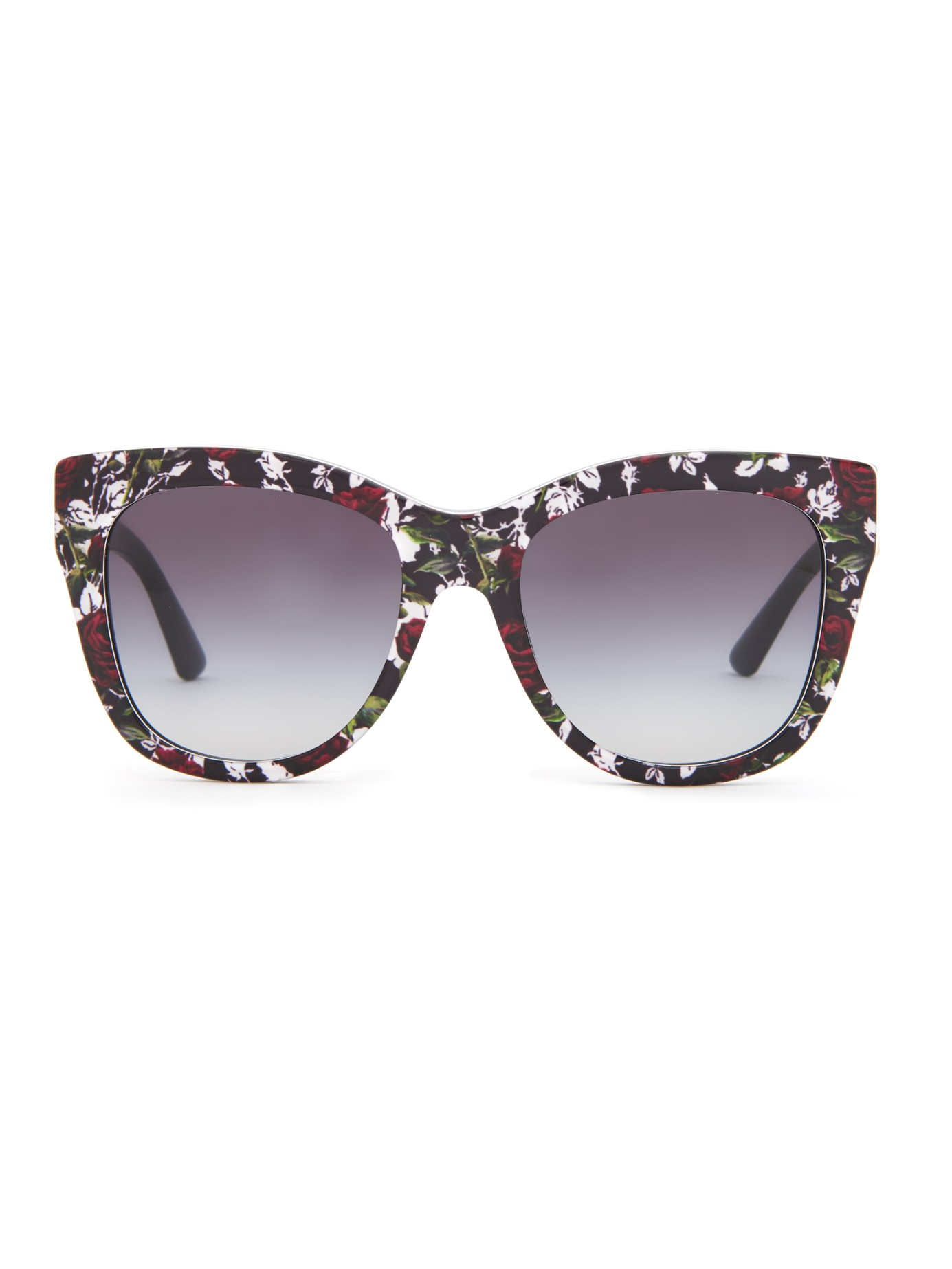 938a792c18e Lyst - Dolce   Gabbana Rose-print Sunglasses in Black