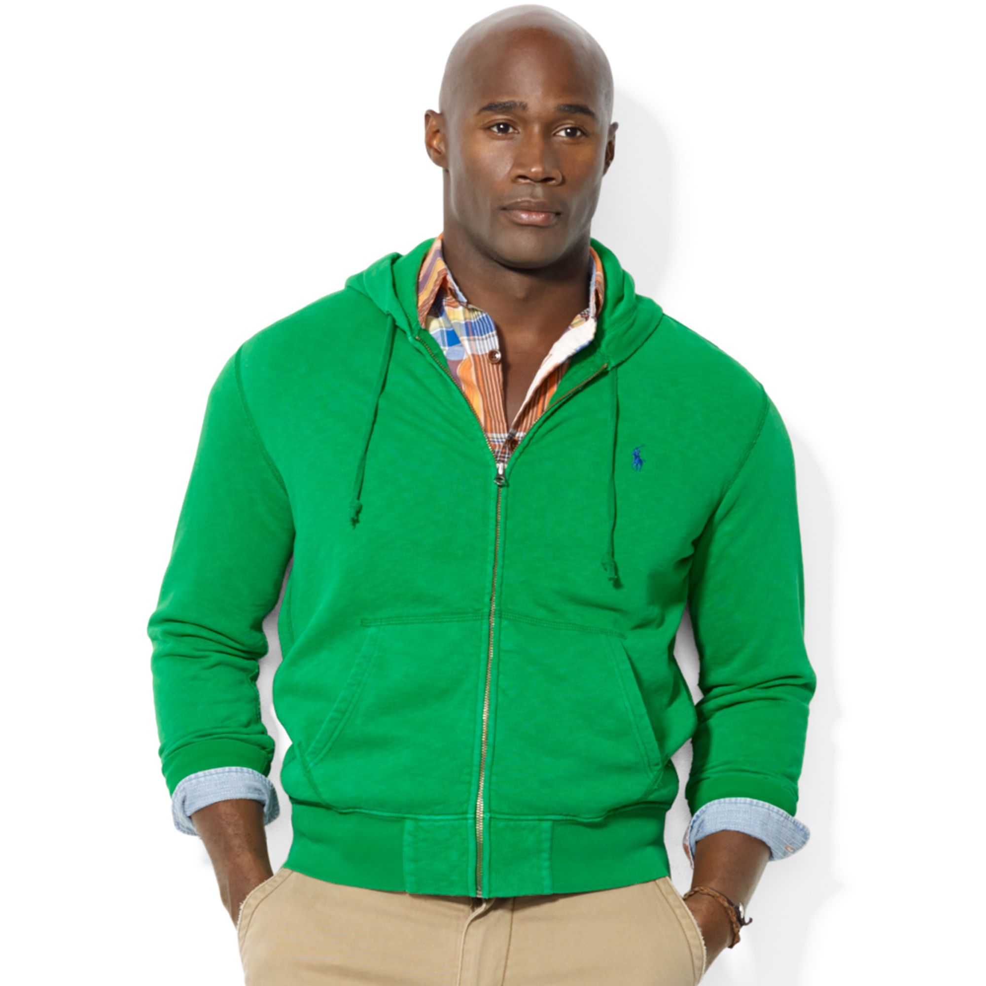 Ralph Lauren Polo Big And Tall Zipup Fleece Hoodie In