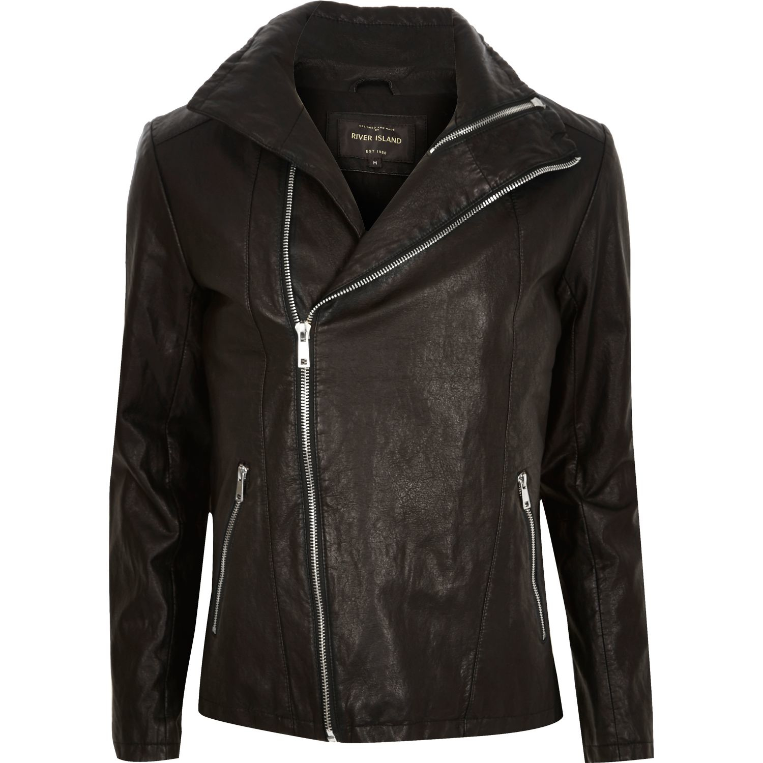 River island mens leather jacket