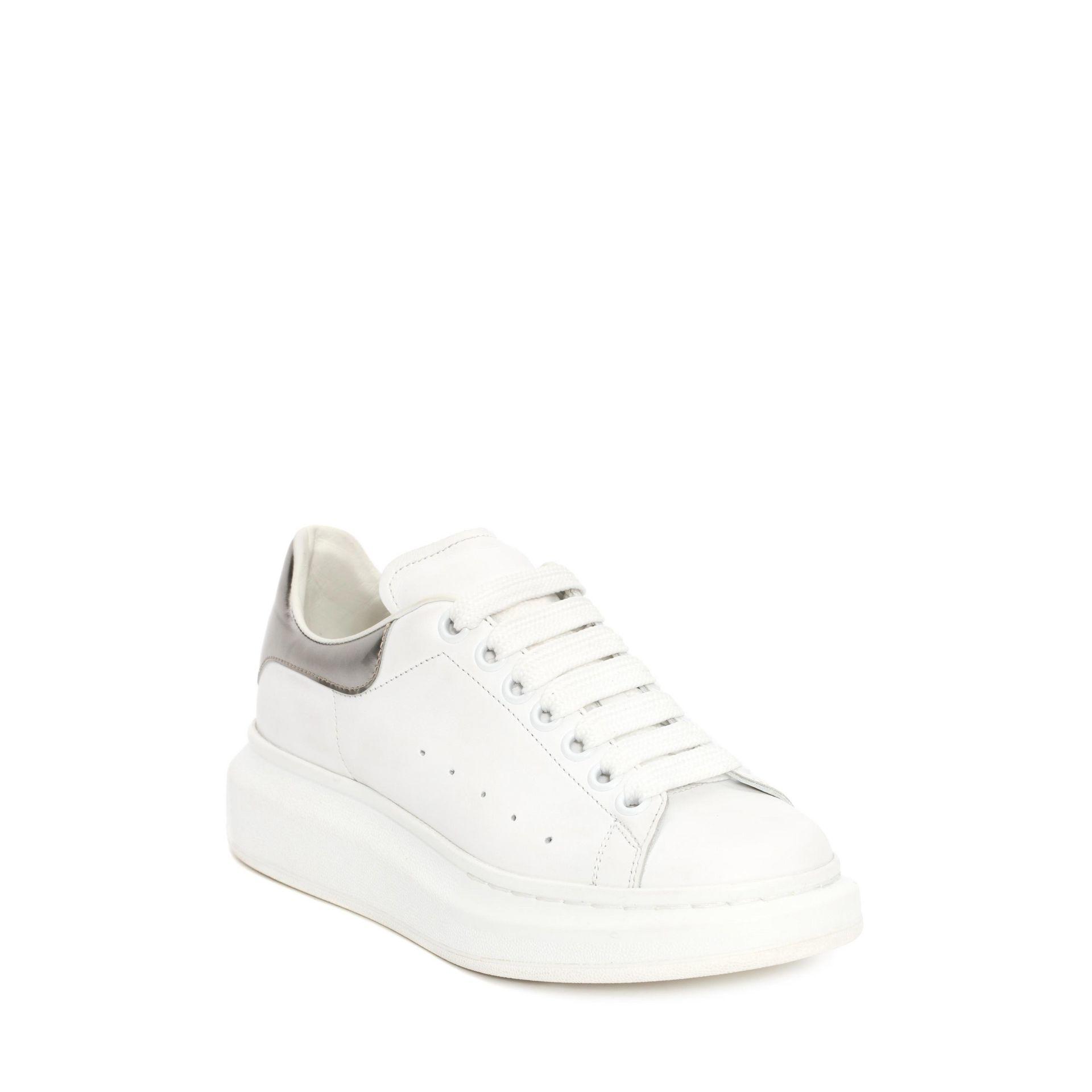 Alexander McQueen & Grey Metallic Oversized Sneakers bMFFP