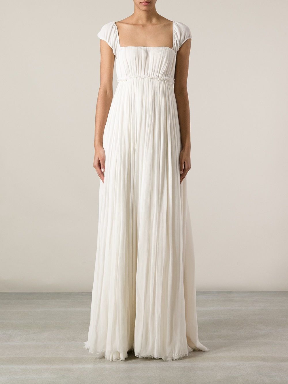 Derek lam Empire Waist Evening Gown in White | Lyst