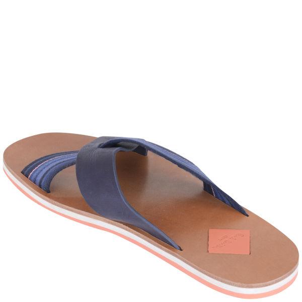 57f9c3476ab9 Paul Smith Mens Kohoutek Leather Sandals in Blue for Men - Lyst