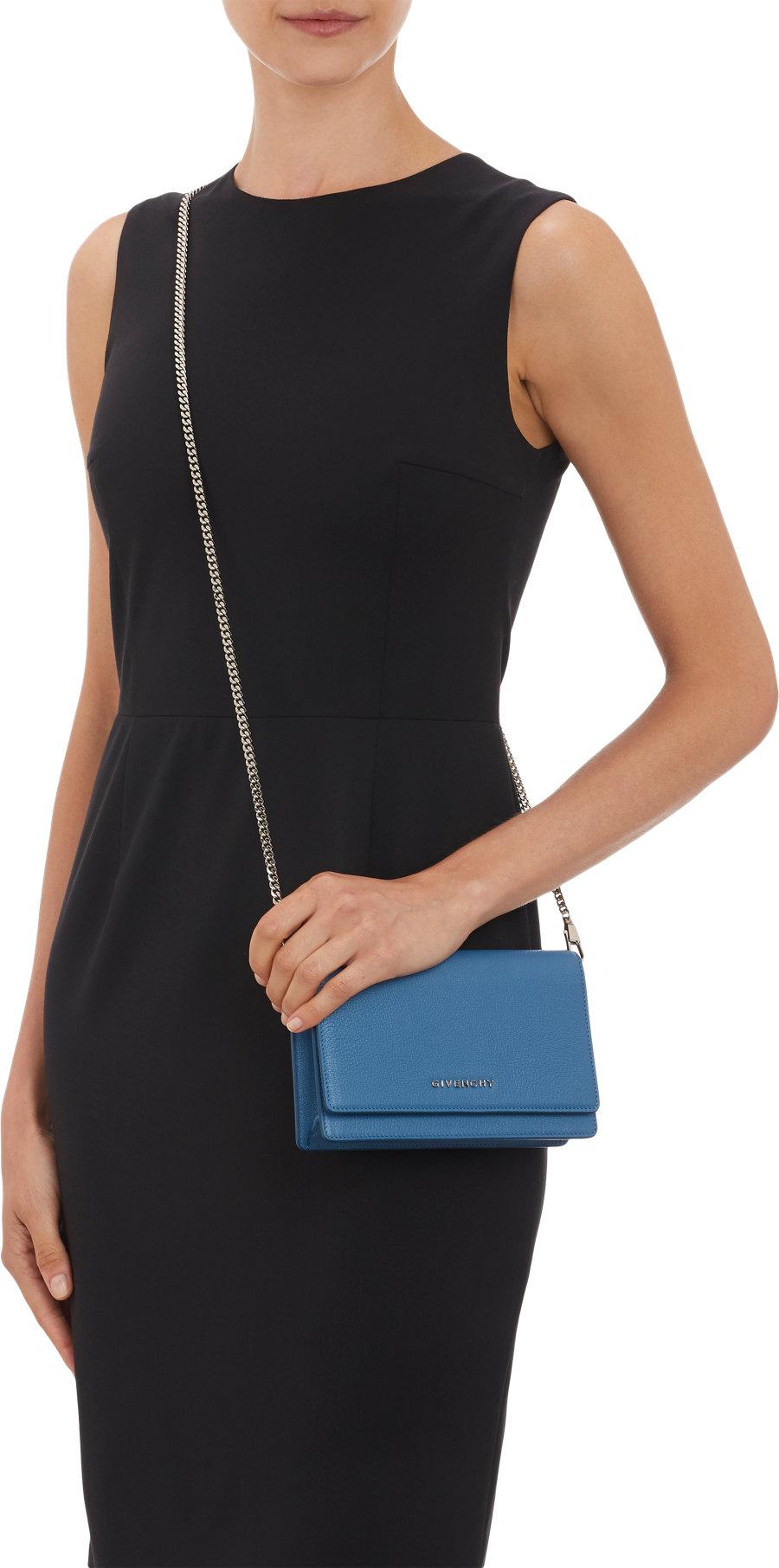 b7d797e4da Givenchy Pandora Chain-Strap Wallet in Blue - Lyst