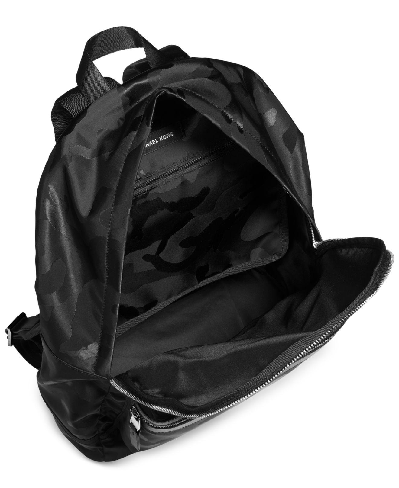 dae35c8b988833 Michael Kors Kent Camo Backpack in Black for Men - Lyst