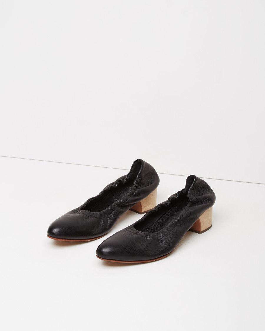 Rachel Comey Wooden Heel Black Shoes