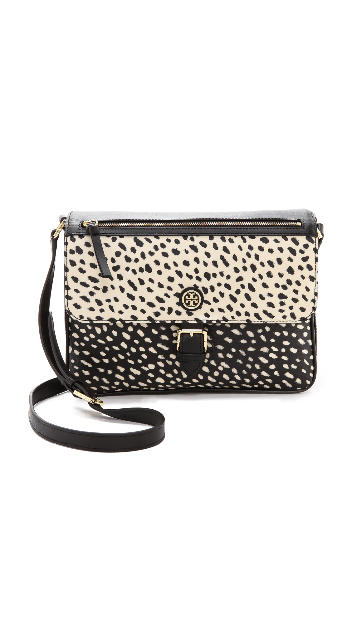 Tory Burch Kerrington Large Cross Body Bag Dotted Pony ...