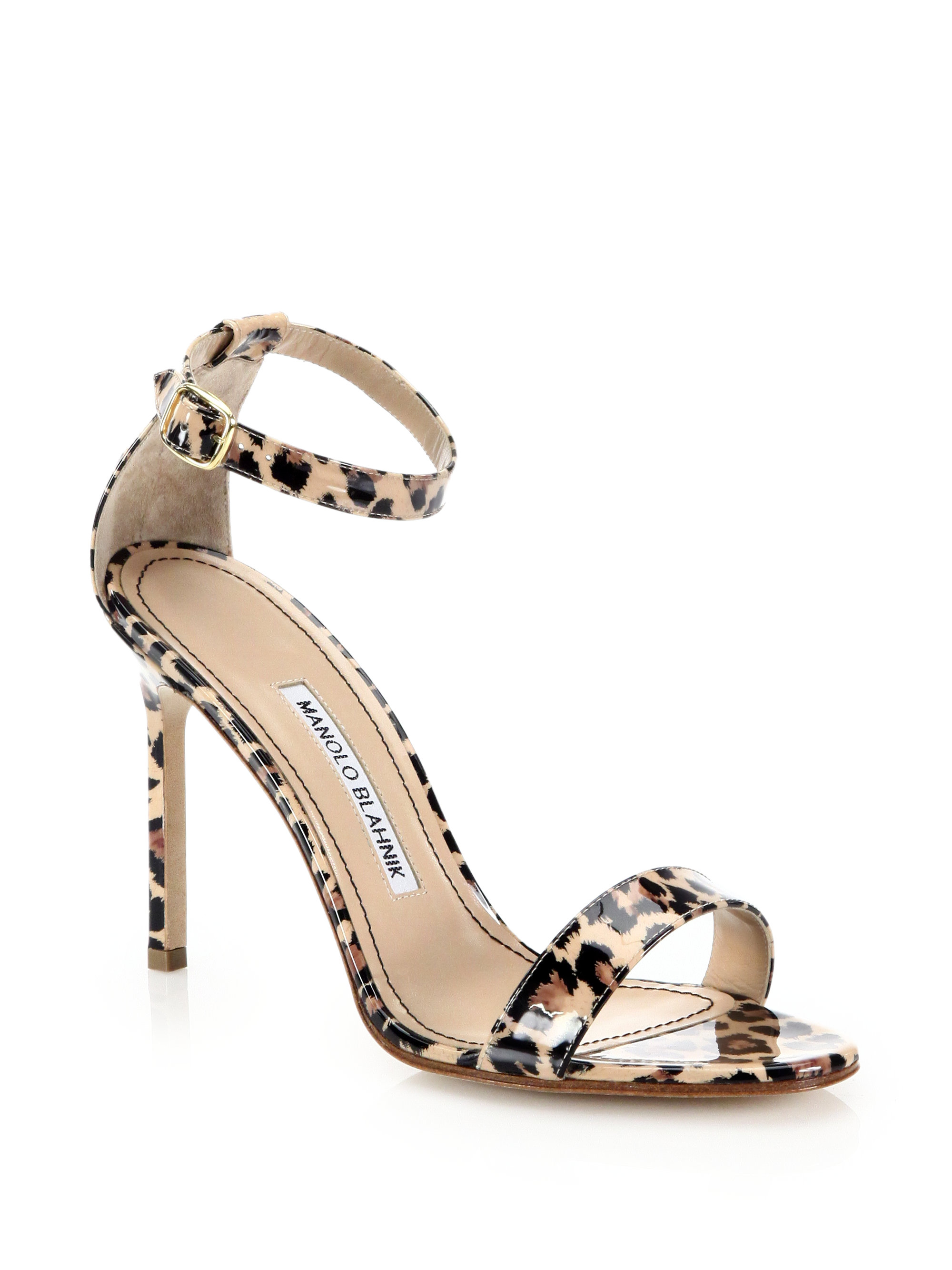 Manolo Blahnik Leopard Ankle Strap Sandals clearance online sale discount cheap how much 1C0Xz00k