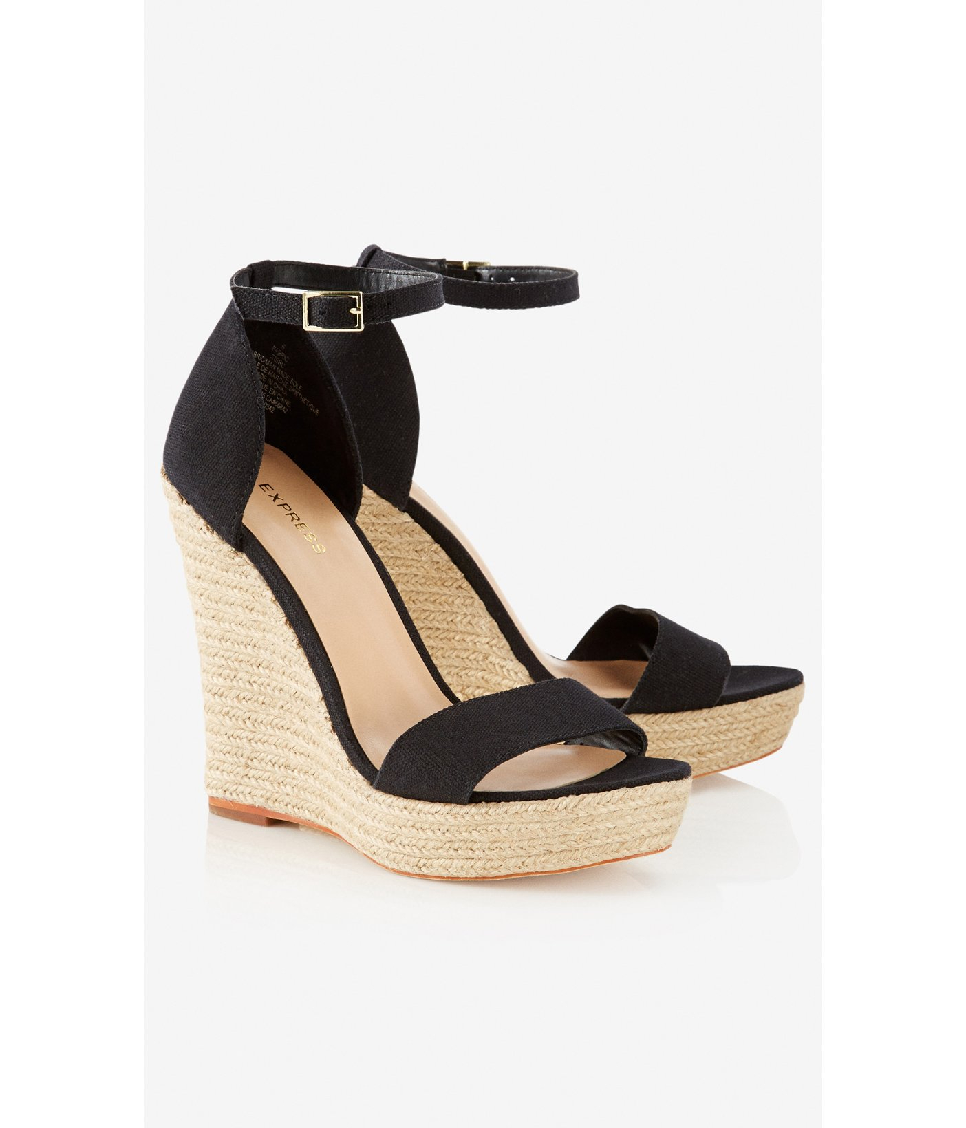 58306f942ee5 Lyst - Express Espadrille Wedge Sandal in Black
