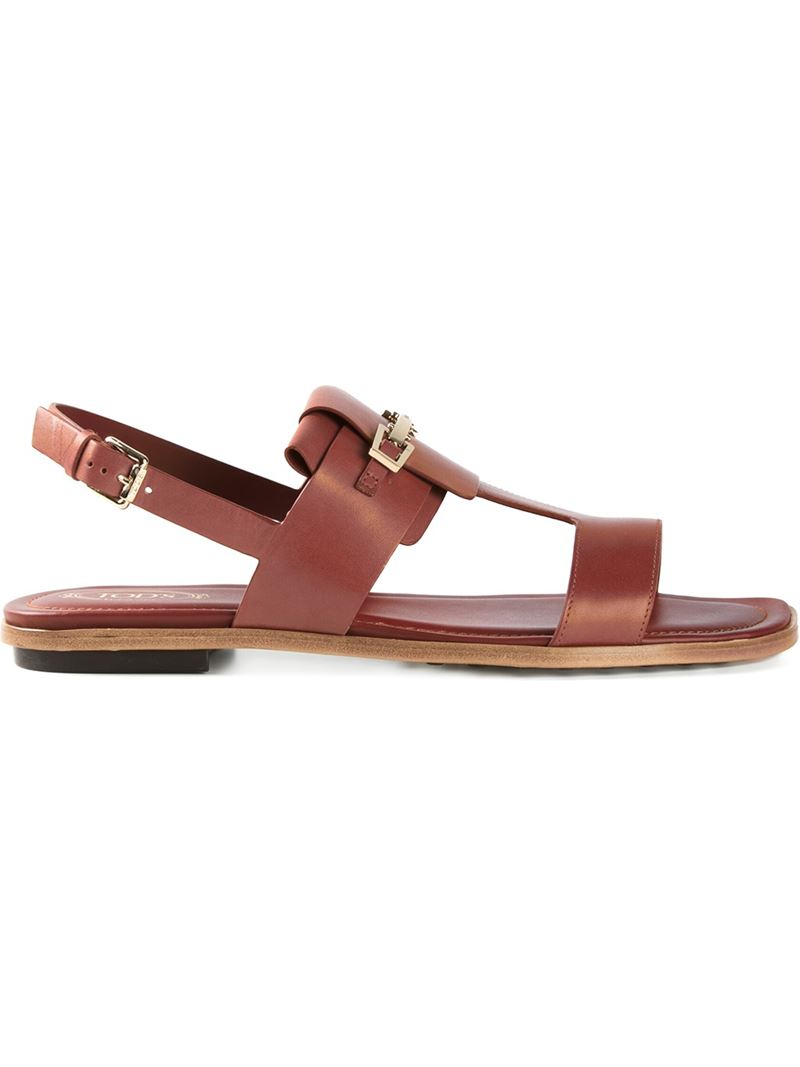 buckle-detailed multi-strap sandals - Nude & Neutrals Tod's zCH1kseqpv