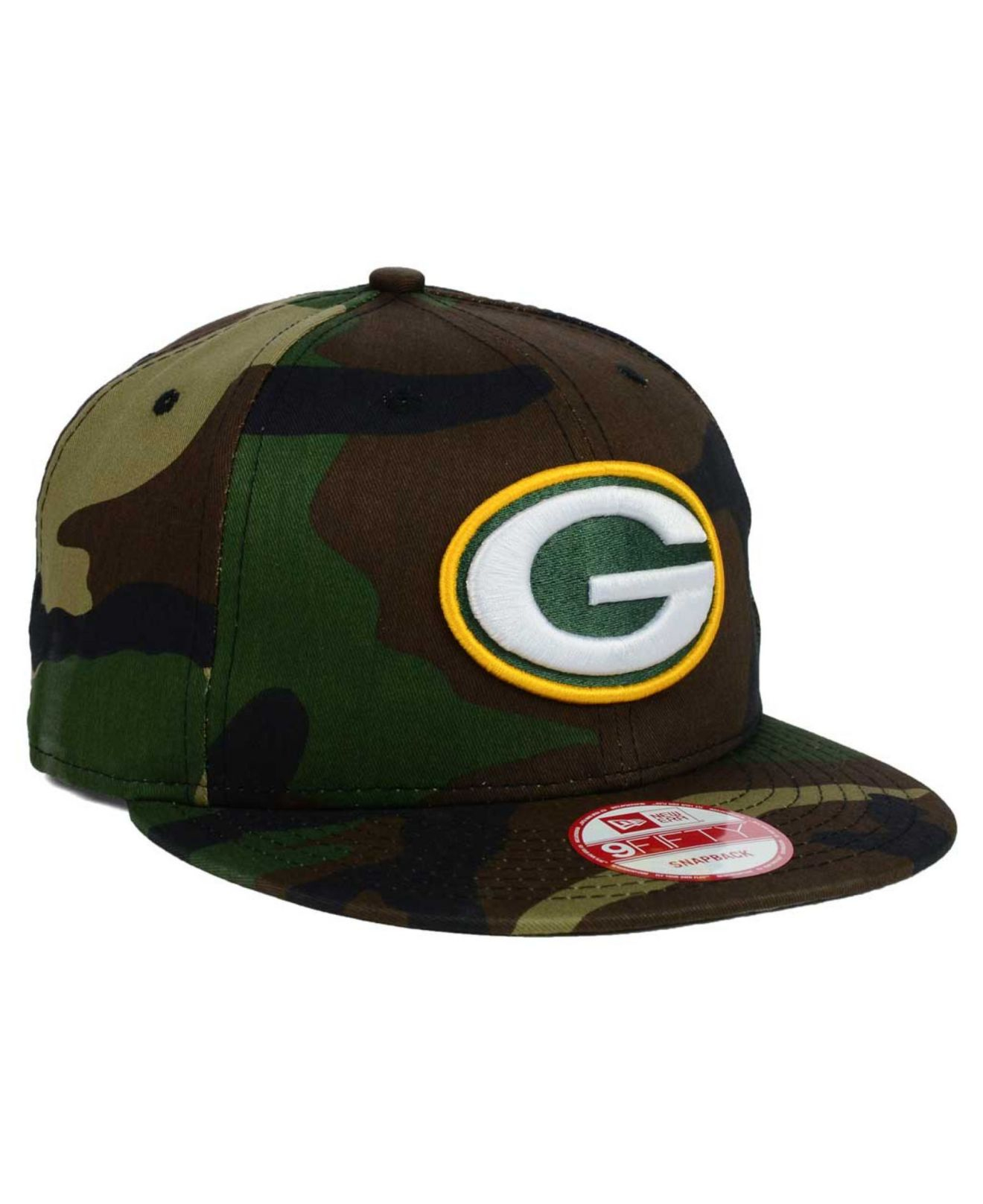 Lyst - KTZ Green Bay Packers Woodland Camo Team Color 9Fifty ... 7abb716c6dbd7