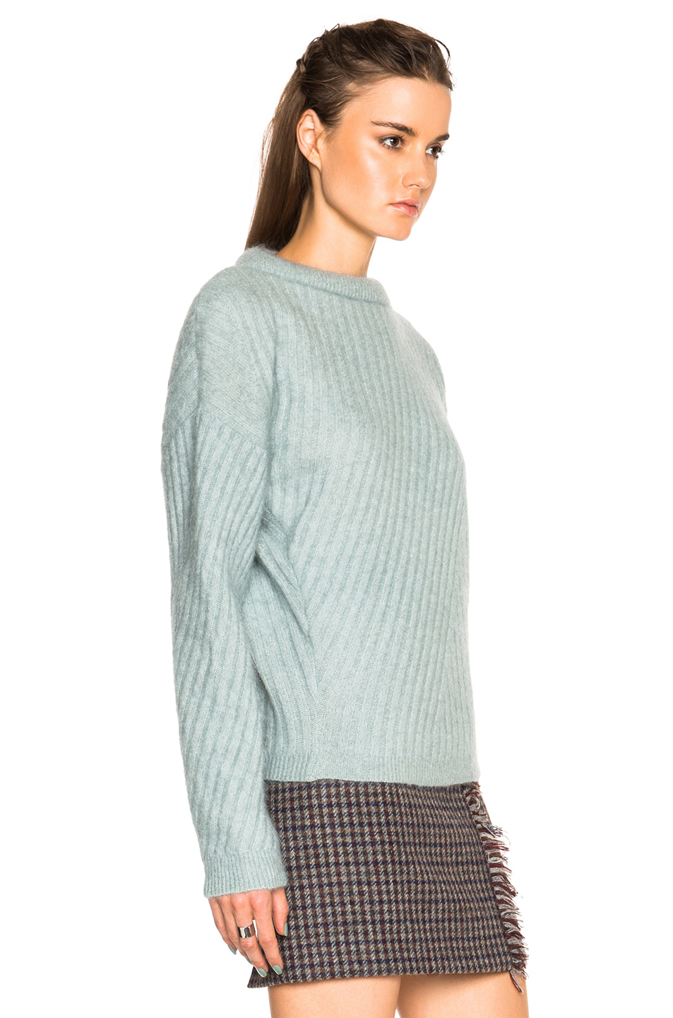lyst acne studios virdis mohair sweater in green. Black Bedroom Furniture Sets. Home Design Ideas