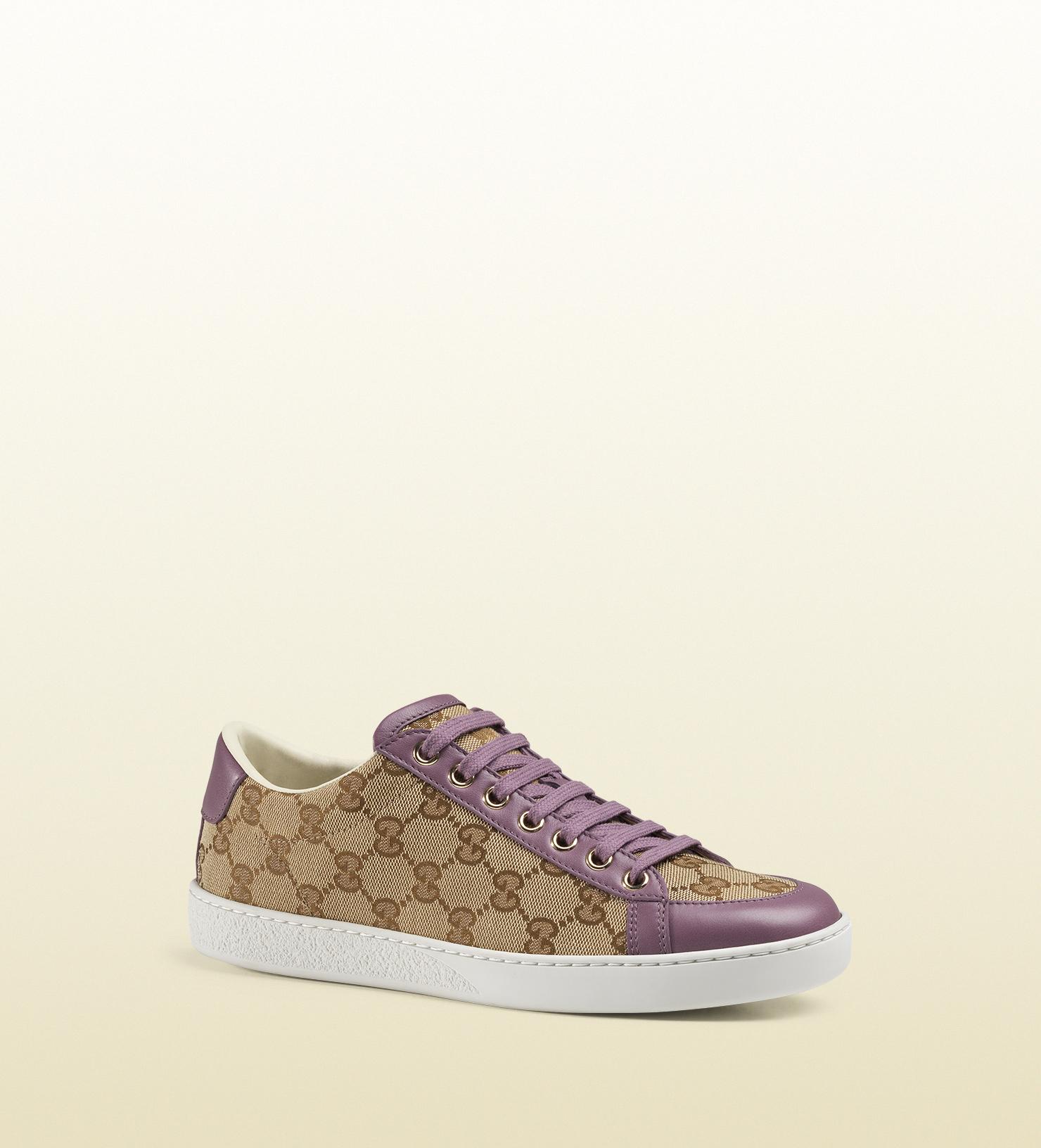 c5b0fc36b41 Lyst - Gucci Brooklyn Original Gg Canvas Low-top Sneaker in Natural