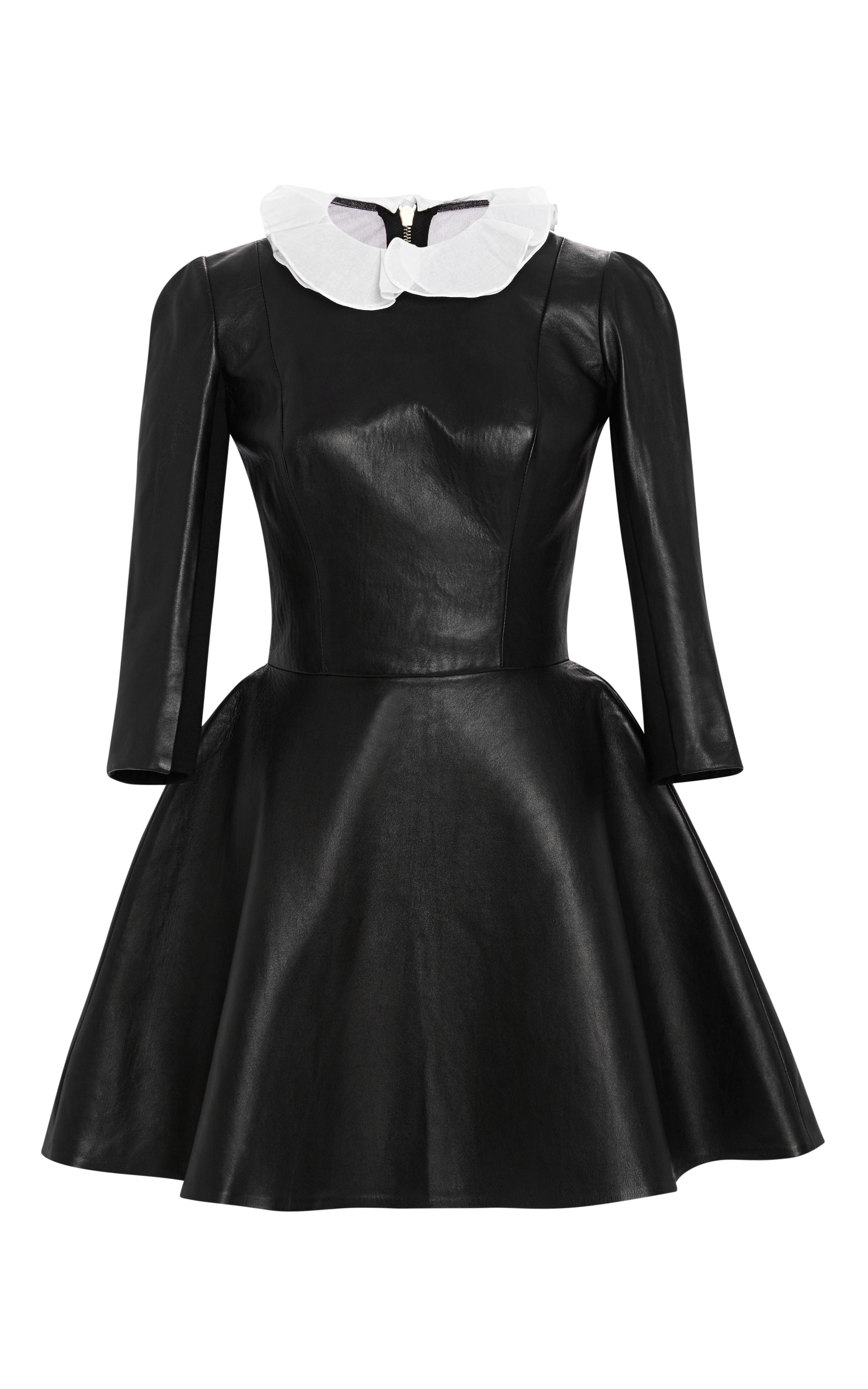 Lyst - Natasha Zinko Leather Dress in Black