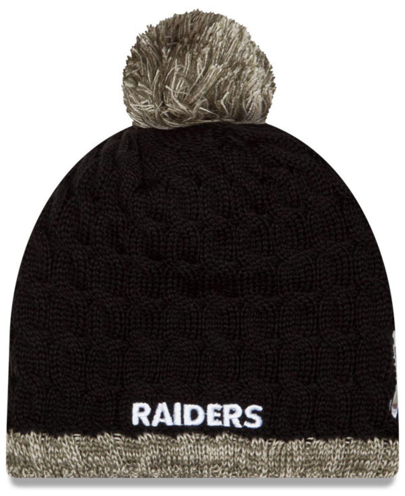 f2cd62f91c5 Lyst - KTZ Women s Oakland Raiders Salute To Service Knit Hat in ...