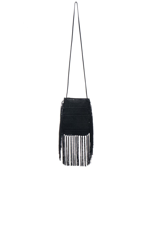 Anita Small Matelasse Crossbody Bag, Black