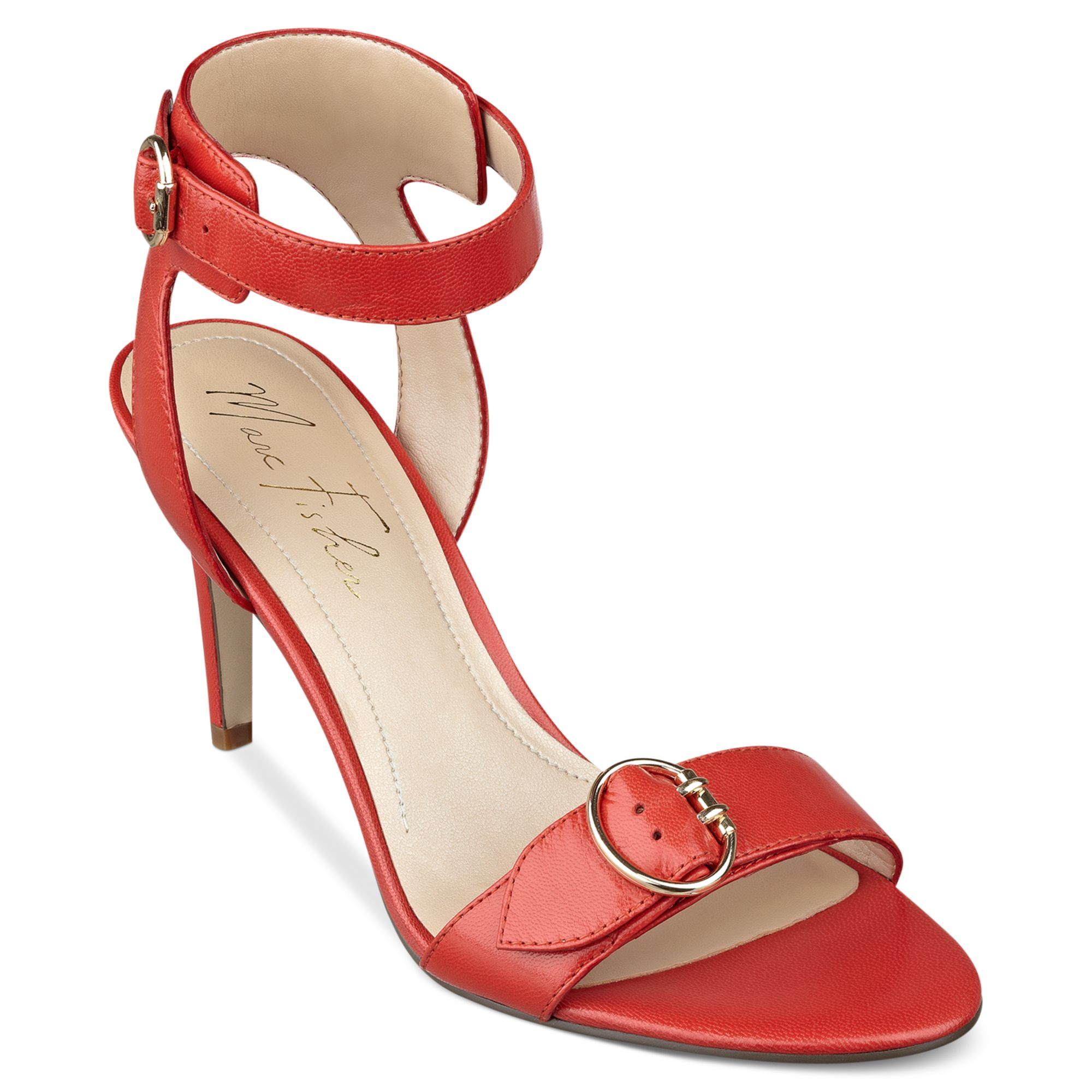 Lyst Marc Fisher Malika Ankle Strap Dress Sandals In Red