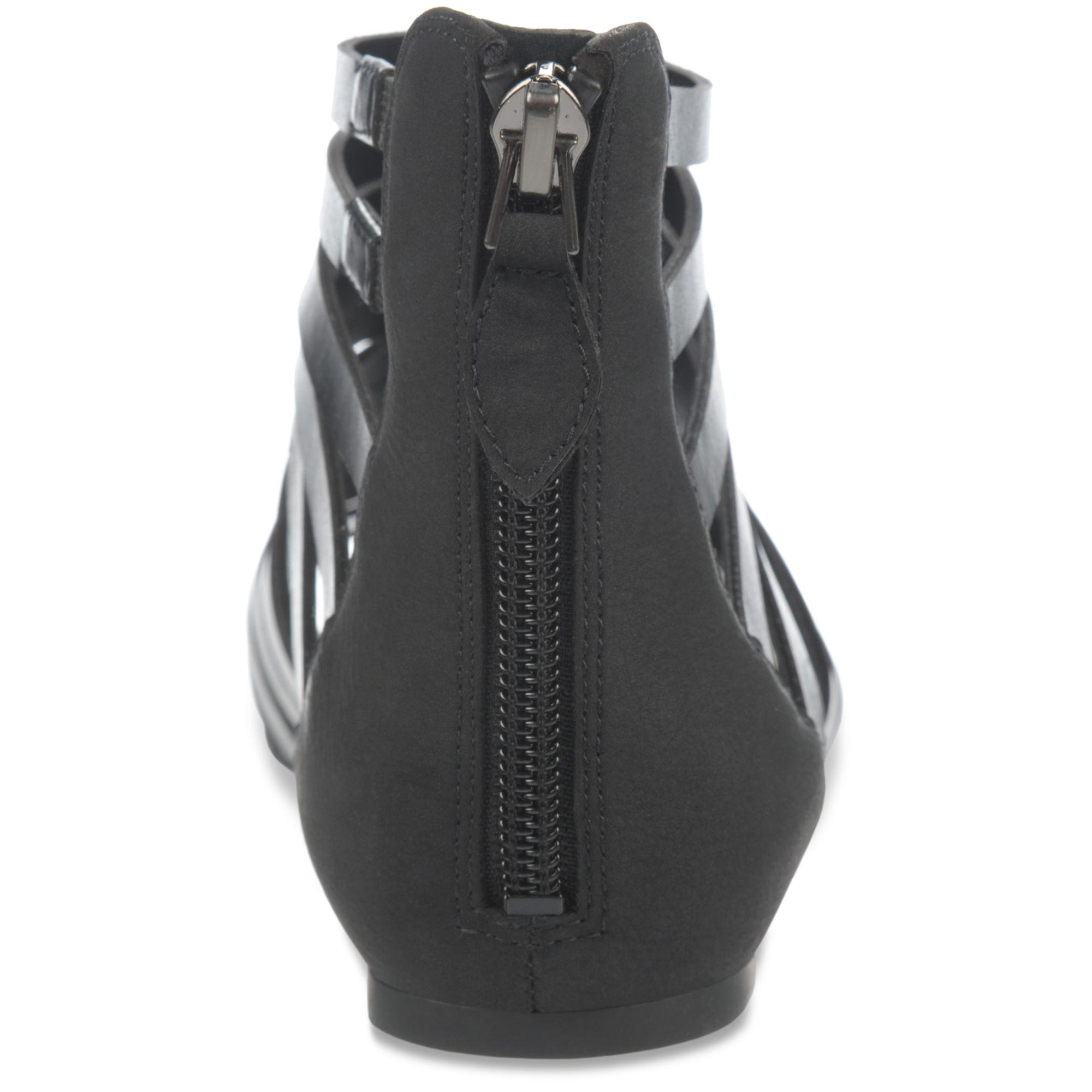 e8b06c4b3006 Lyst - Franco Sarto Atrium Gladiator Sandals in Black